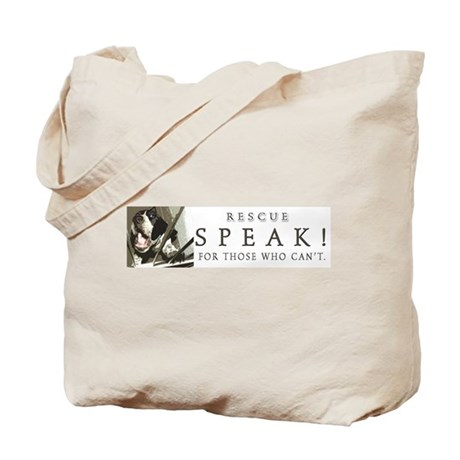 Speak! wide design Tote Bag