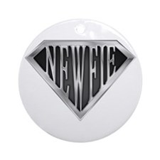 SuperNewfie(metal) Ornament (Round)