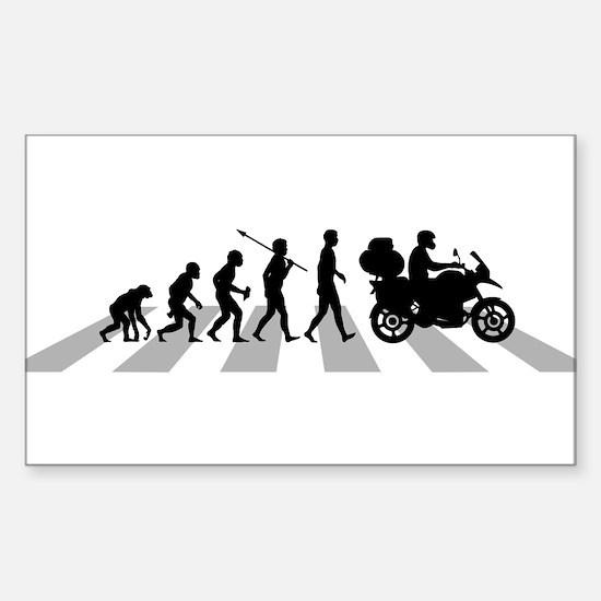 Unique Human evolution Sticker (Rectangle)