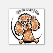 "Unique Miniature poodles Square Sticker 3"" x 3"""