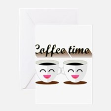 Coffee is awesome Greeting Cards