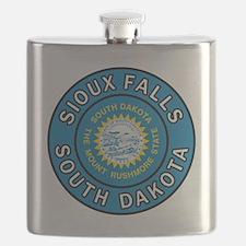 Funny Rushmore Flask