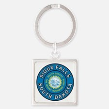 Unique South dakota Square Keychain