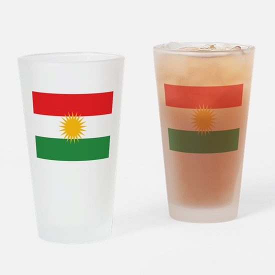 Flag of Kurdistan (Alay Kurdistan, Drinking Glass