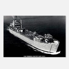 USS TERRELL COUNTY Postcards (Package of 8)