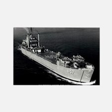 USS TERRELL COUNTY Rectangle Magnet