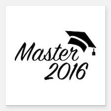 "Master 2016 Square Car Magnet 3"" x 3"""