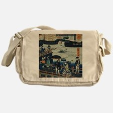 Ancient Ukiyo e Japanese Geisha Messenger Bag