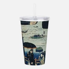Ancient Ukiyo e Japan Acrylic Double-wall Tumbler