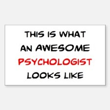 awesome psychologist Sticker (Rectangle)