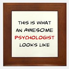 awesome psychologist Framed Tile