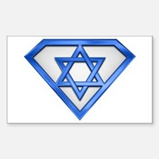 Super Jew/Israeli Rectangle Decal