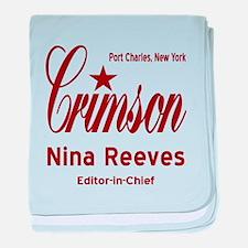 Nina Clay Editor Crimson General Hosp baby blanket