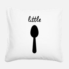 BIG SPOON LITTLE SPOON Square Canvas Pillow