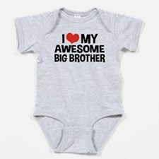 Cute Worlds coolest big brother Baby Bodysuit