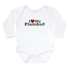 Cute Funny plumbers Long Sleeve Infant Bodysuit