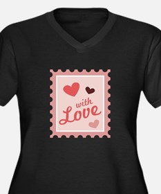 With Love Stamp Plus Size T-Shirt