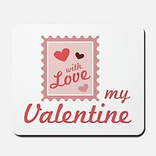 Valentine Stamp Mousepad