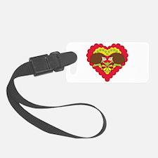 Hedgehogs & Valentines Luggage Tag