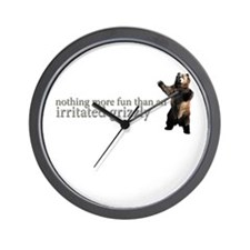 Fun Irritated Grizzly Wall Clock