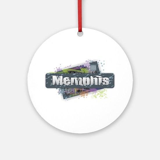 Memphis Design Round Ornament