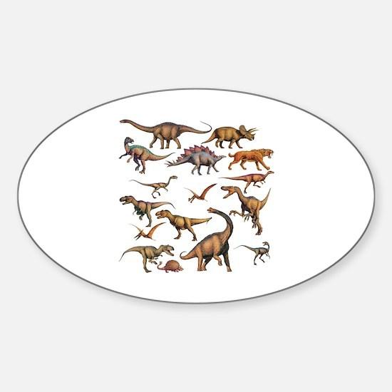 Unique Dinosaur Sticker (Oval)
