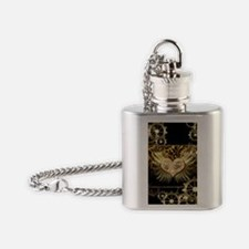 Steampunk, wonderful heart Flask Necklace