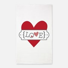 Love In Brackets Area Rug