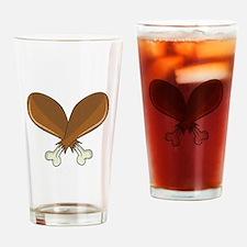 Drumsticks Drinking Glass