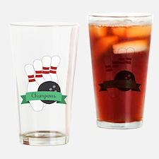Bowling Champions Drinking Glass