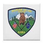 Mountain Village Police Tile Coaster