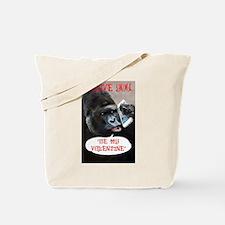 Valentines Gorilla Tote Bag