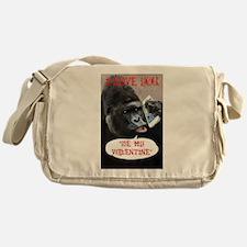Valentines Gorilla Messenger Bag