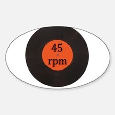 Vinyl record vintage 45 rpm 7 inch single Decal
