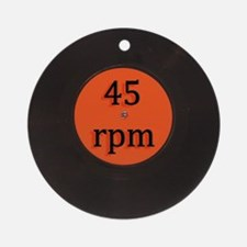 Vinyl record vintage 45 rpm 7 inch Round Ornament