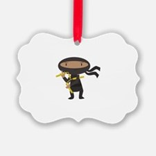 Funny Ninja Ornament