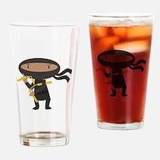Funny Ninja Drinking Glass