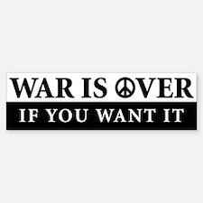 War is Over Bumper Bumper Bumper Sticker Bumper Bumper Bumper Sticker
