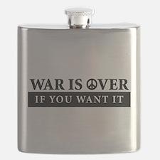 War is Over Bumper Sticker Flask