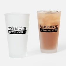War is Over Bumper Sticker Drinking Glass