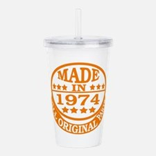 Made in 1974, All orig Acrylic Double-wall Tumbler