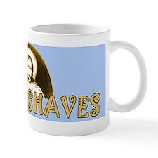 Funny Jesus Shaves Shaving Mug