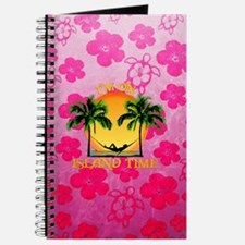 Pink Flowers Island Time Journal