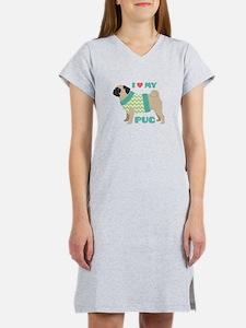 Love My Pug Women's Nightshirt
