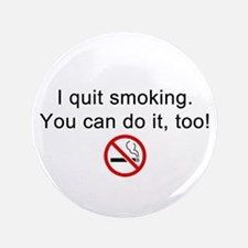 I quit smoking Button