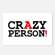 CRAZY PERSON! Postcards (Package of 8)