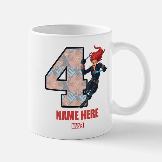 Personalized Black Widow Age 4 Mug
