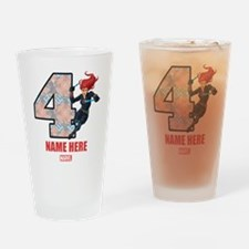 Personalized Black Widow Age 4 Drinking Glass