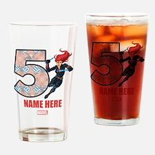Personalized Black Widow Age 5 Drinking Glass
