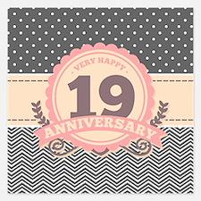 19th Anniversary Gift Chevr Invitations